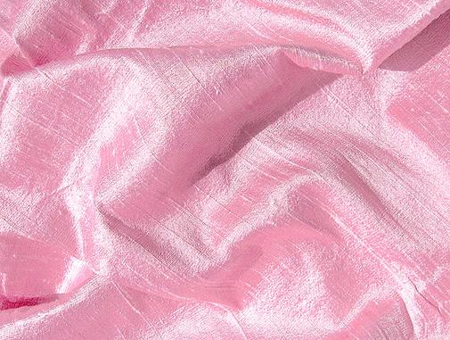 Sparkling Pink Iridescent Dupioni Silk Fabric