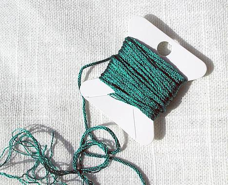 Brilliant Emerald Green Filament Silk Floss Six Strand