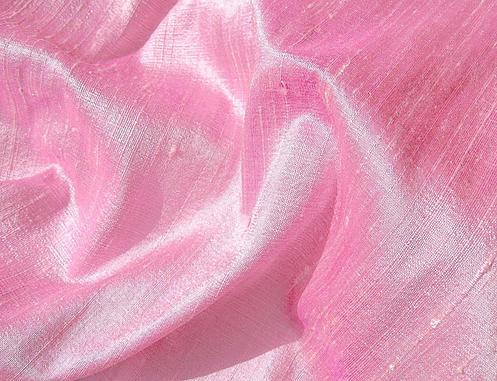 Cool Pink Raspberry Iridescent Silk Dupioni