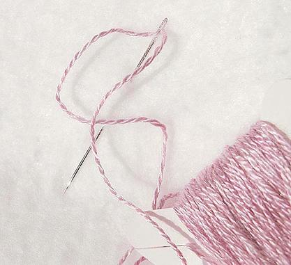 Lavender Pink Spun Silk Yarn Thread Lace Weight Two Ply