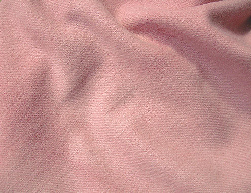Medium Pink Hand Dyed Felted Wool Fabric