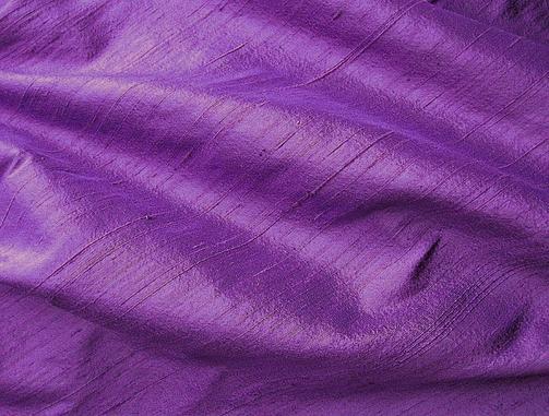 Deep Purple Violet Iridescent Dupioni Silk Fabric