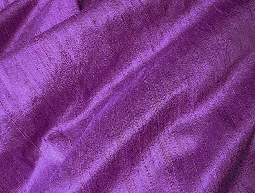 Deep Purple Violet Iridescent Dupioni Silk Fabric