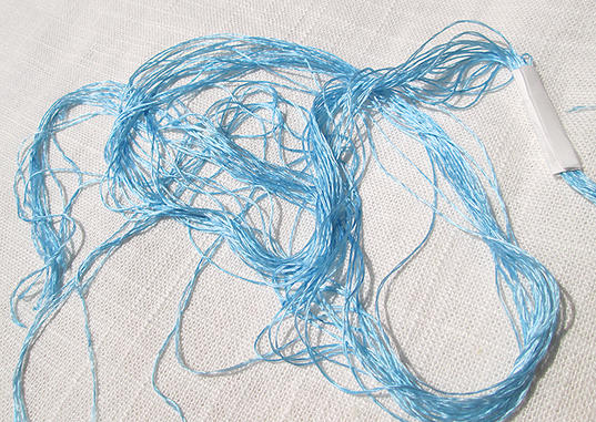 Sky Blue Brilliant Filament Silk Embroidery Floss