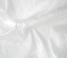 Bright White Silk Dupioni Fabric