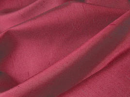 Deep Burgundy Red Iridescent Silk Fabric