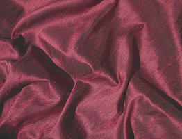 Cranberry Wine Red Iridescent Silk Dupioni Fabric