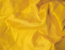 Lot of 4 Remnants: Yellow Gold Molasses Silk Dupioni