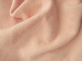 Peach Hand Dyed Felted Wool Fabric