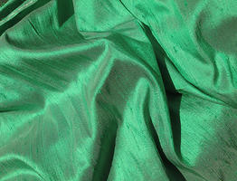 Green Pearl Iridescent Silk Dupioni