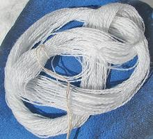 Bright White Fine Pure Merino Wool Thread