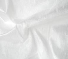 Bright White Silk Dupioni Fabric 26 x 8