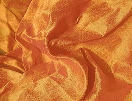 Brilliant Golden Tangerine Iridescent Silk Dupioni Fabric 21.5 x 11.5