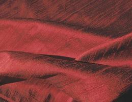 Brilliant Deep Red Iridescent Silk Dupioni Fabric 21 x 12