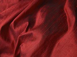 Brilliant Deep Red Iridescent Silk Dupioni Fabric 21 x 10.5